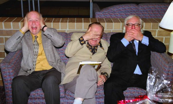 Ray Harryhausen, Forrest J Ackerman, and Ray Bradbury