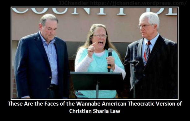 These Are the Faces of the Wannabe American Theocratic Version of Christian Sharia Law